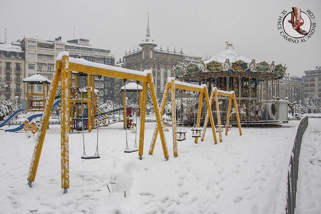 Carrusel Alderdi Eder nevado