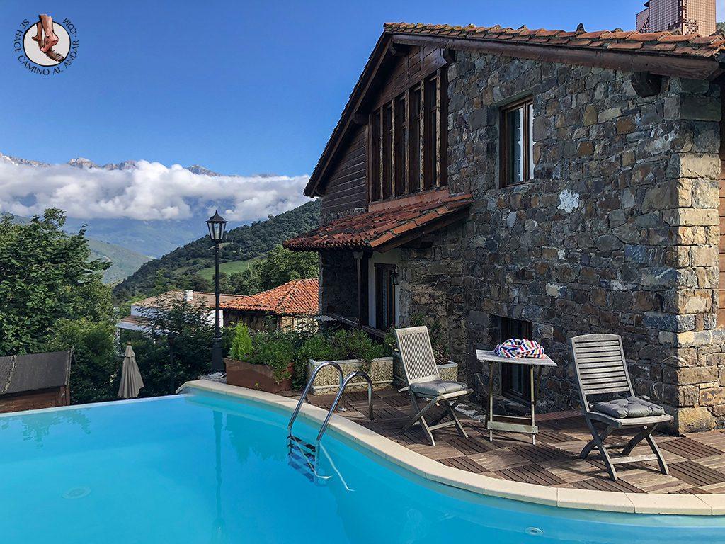 Casa Rural las Chimeneas piscina Picos de Europa