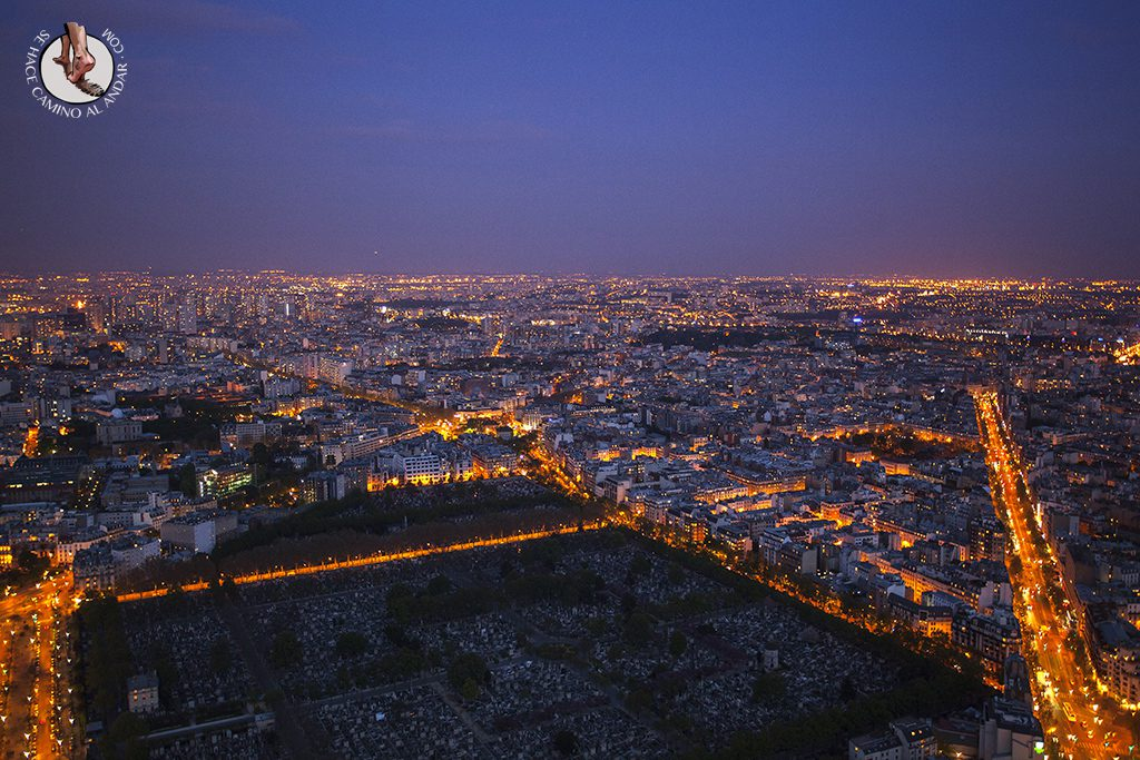 Cementerio Montparnasse atardecer