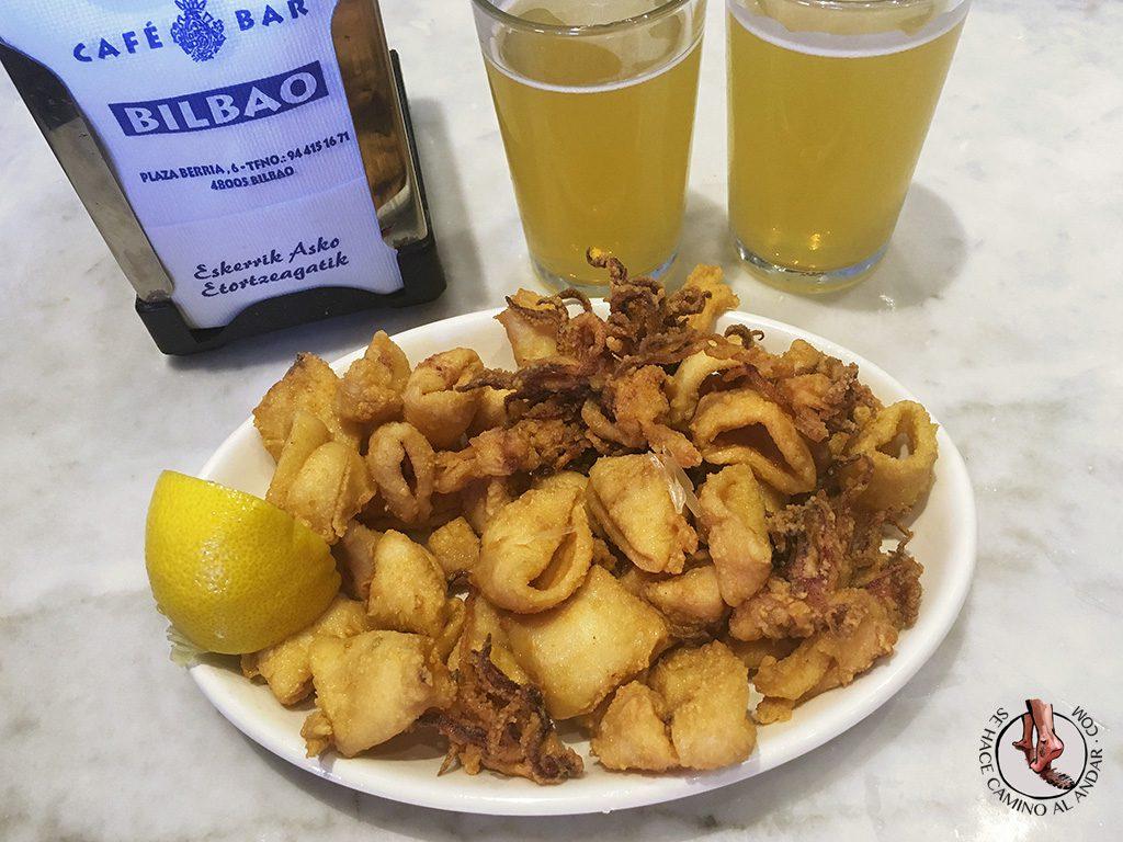 Chopitos cafe Bar Bilbao Casco Viejo