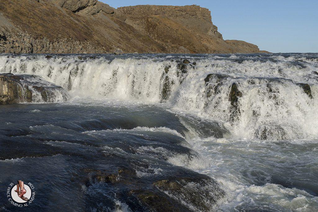 Circulo dorado Cascada Gullfoss agua
