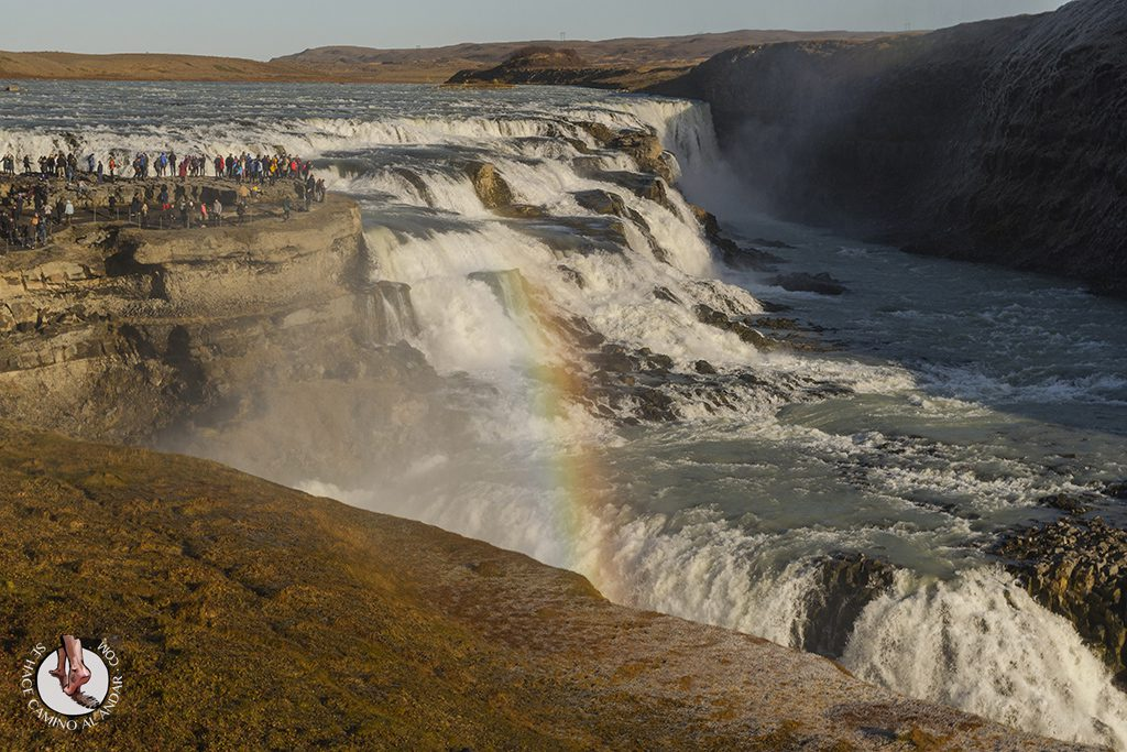 Circulo dorado Cascada Gullfoss arco iris