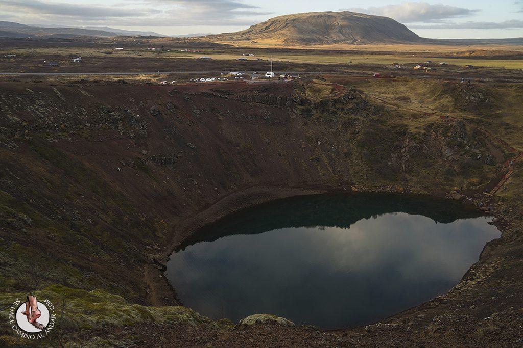 Circulo dorado Crater Kerid mirador