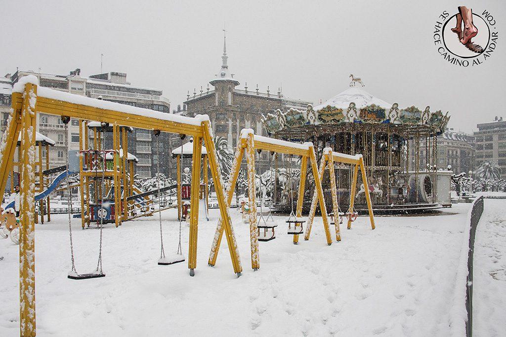 Columpios Carrusel nieve