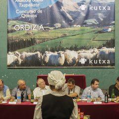 Concurso y subasta de queso Idiazabal en la Feria de Ordizia