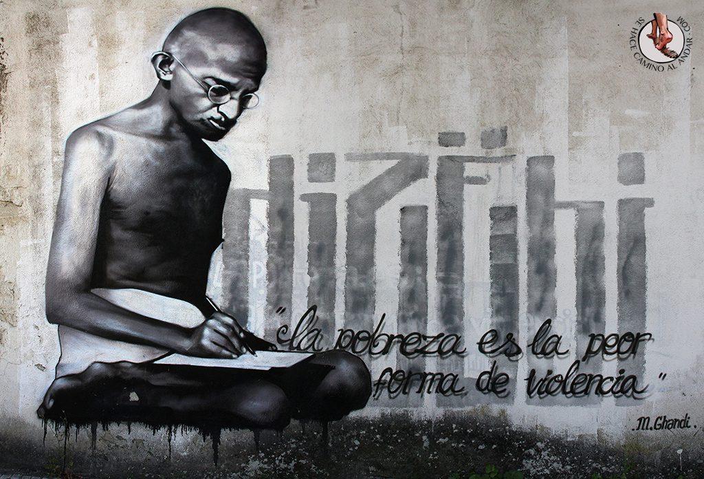 Dizebi graffitero Goierri Beasain Ghandi