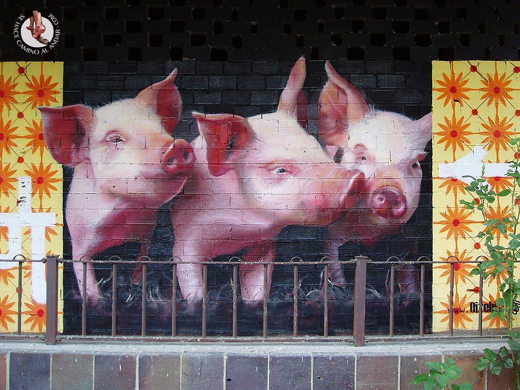 Dizebi graffitero Goierri Beasain cerdos