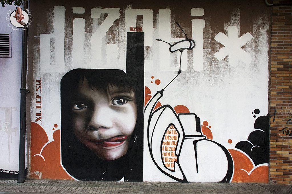 Dizebi graffitero Goierri Beasain nina lengua
