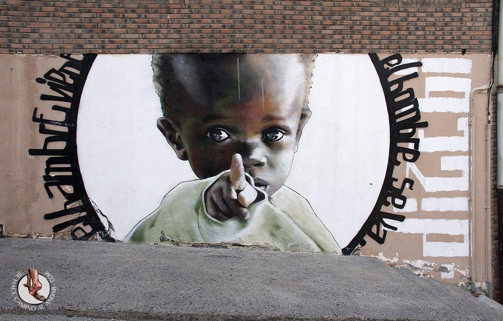 Dizebi graffitero Goierri Beasain nino hambre