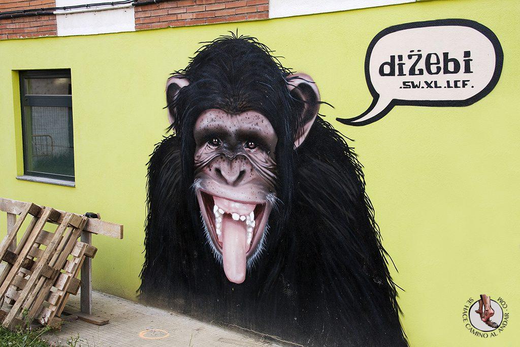Dizebi graffitero Goierri Lazkao mono