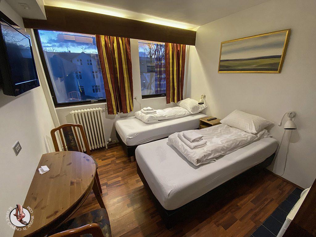 Dormir Reikiavik Downtown Hotel entrada habitacion