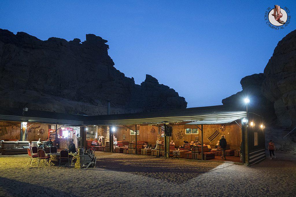 Dormir en el desierto de Jordania sun city camp bar