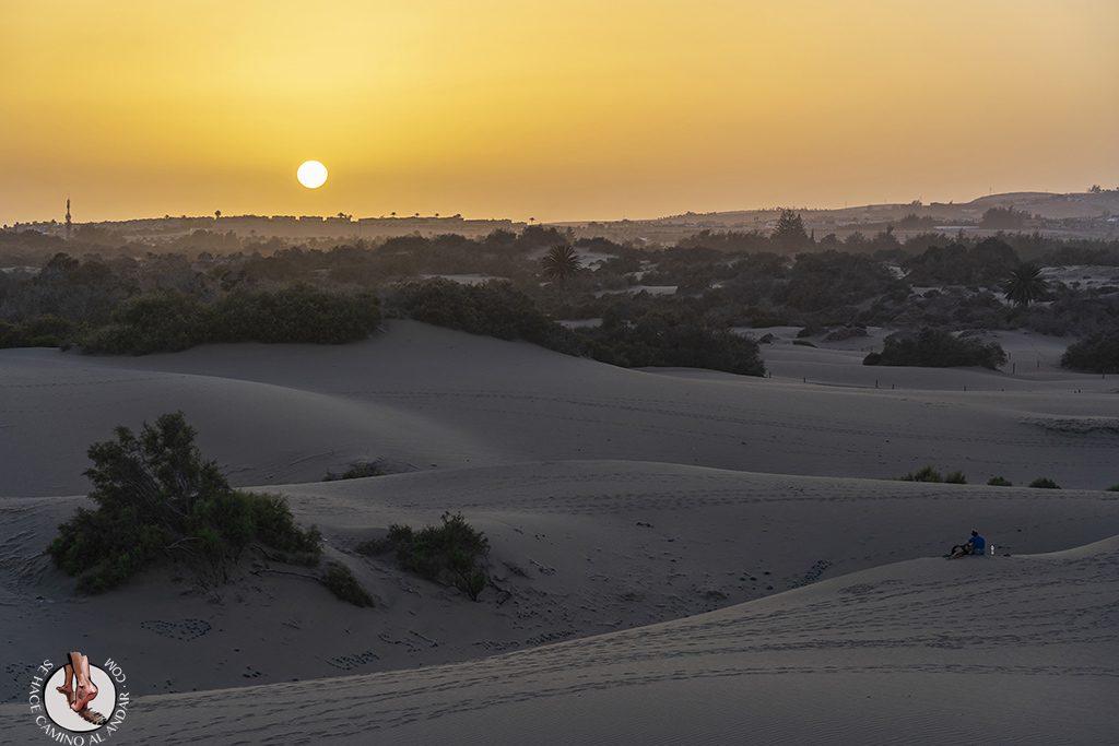 Dunas de Maspalomas desierto Gran Canaria atardecer
