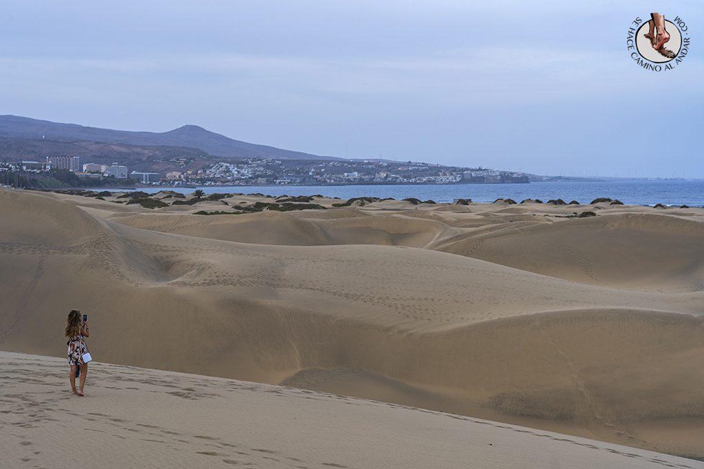 Dunas de Maspalomas desierto Gran Canaria foto