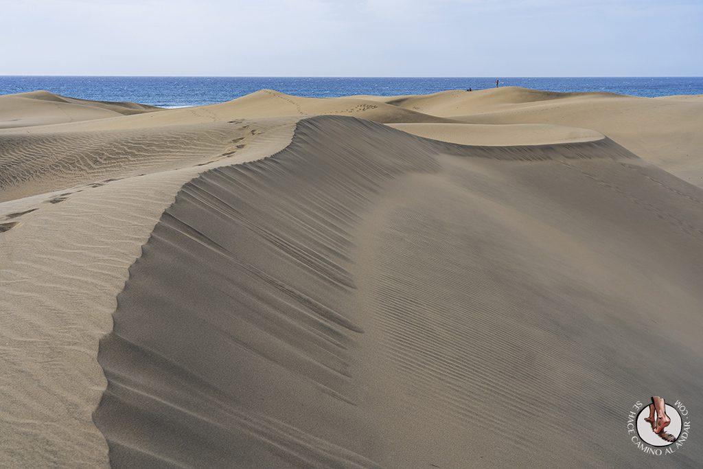 Dunas de Maspalomas desierto Gran Canaria ladera