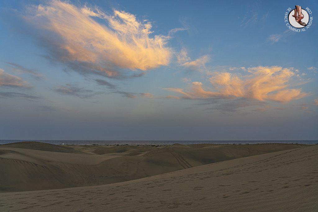 Dunas de Maspalomas desierto Gran Canaria nubes