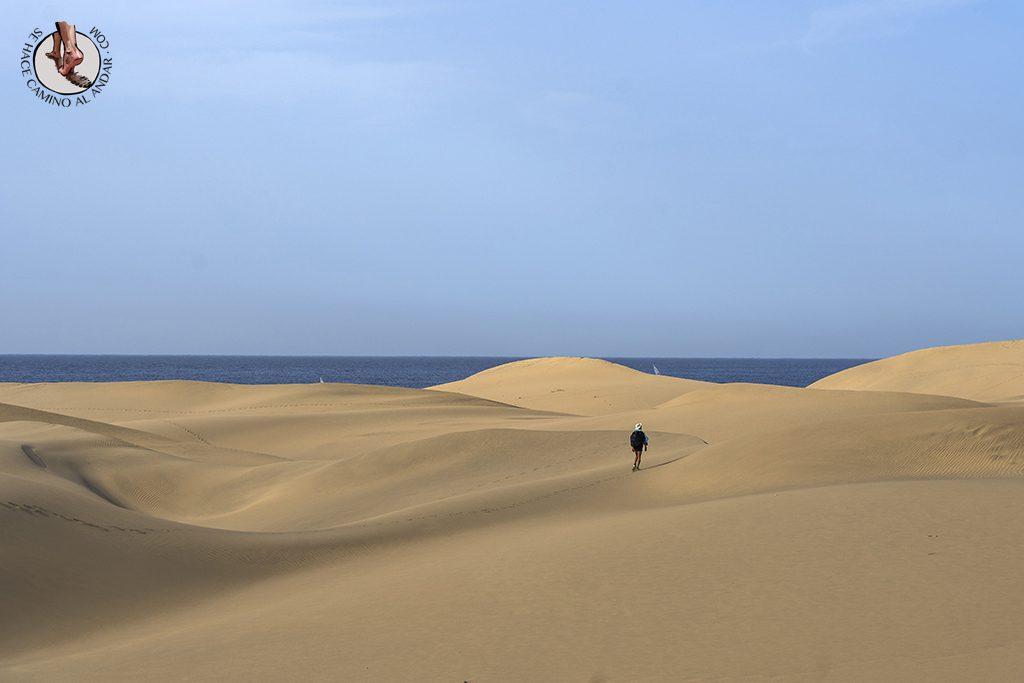 Dunas de Maspalomas desierto Gran Canaria paseo