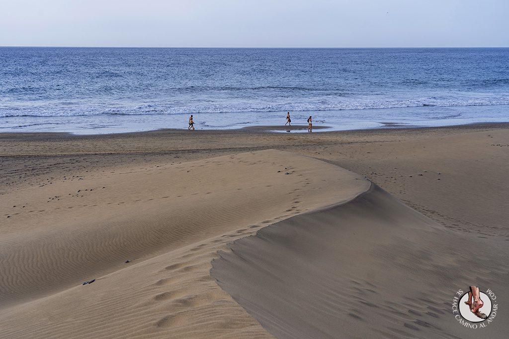 Dunas de Maspalomas desierto Gran Canaria playa