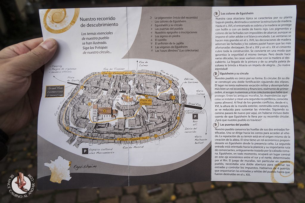 Eguisheim plano mapa turismo