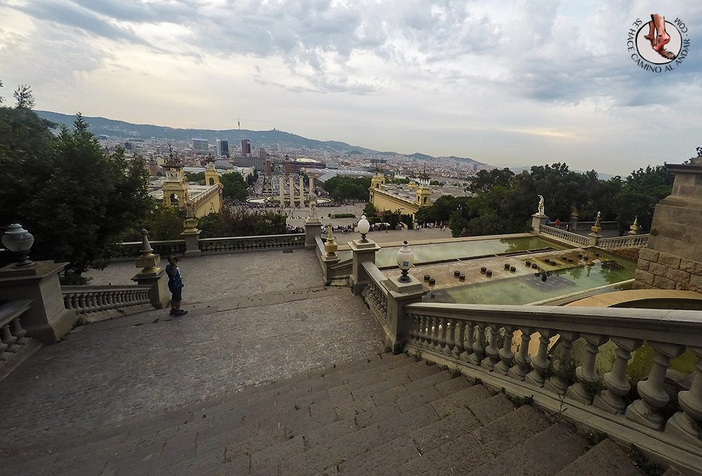 Escaleras MNAC Barcelona