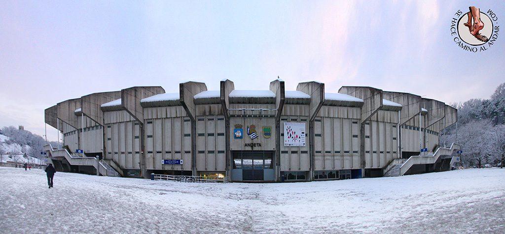 Estadio Anoeta nevado