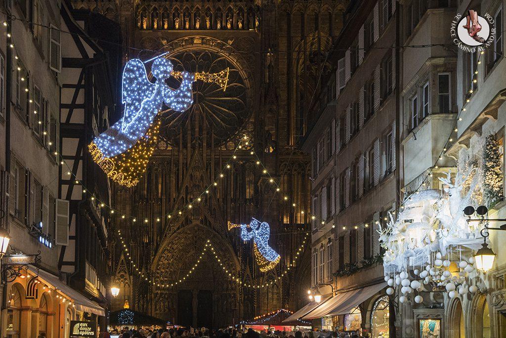 Estrasburgo Rue Merciere iluinacion