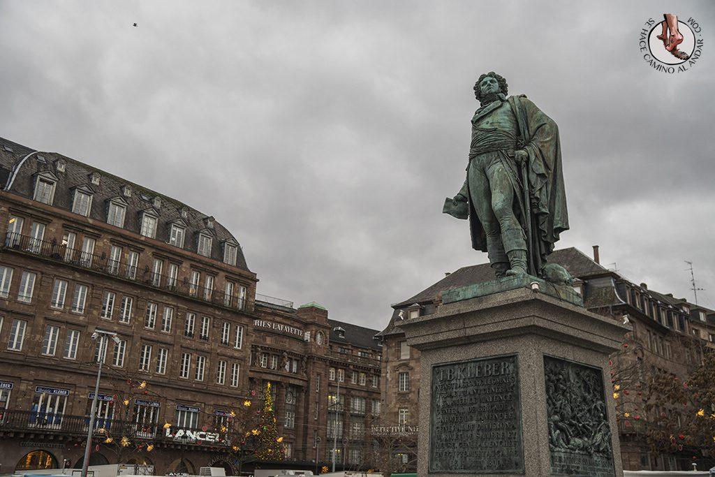 Estrasburgo plaza Kleber estatua