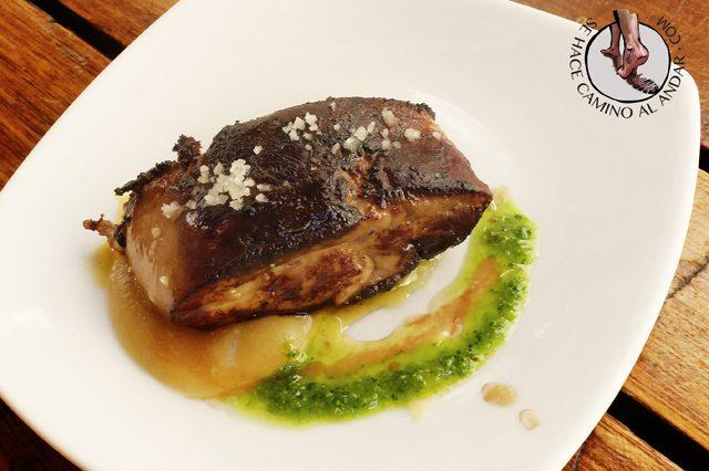 Foie con compota de manzana La cuchara de San Telmo chalo84
