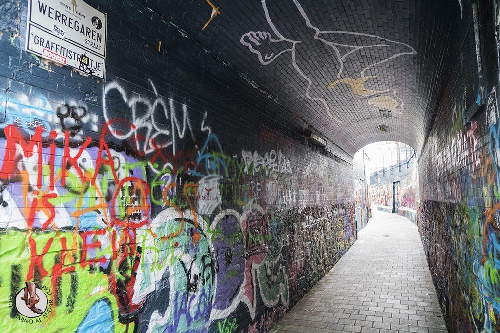 Gante calle graffiti