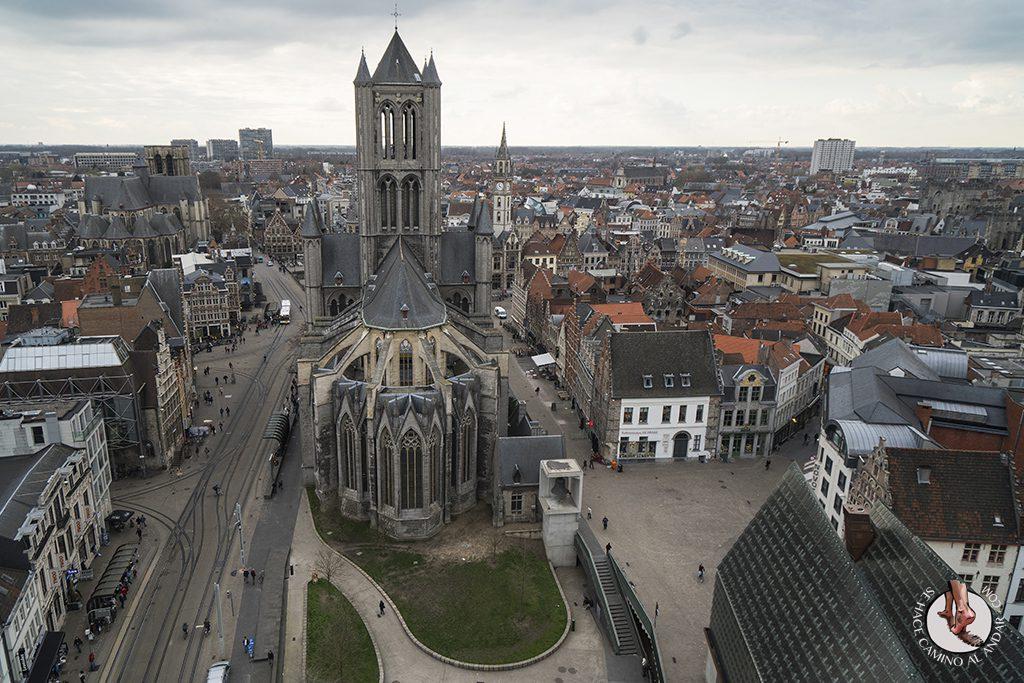 Gante torre Belfort mirador iglesia san nicolas