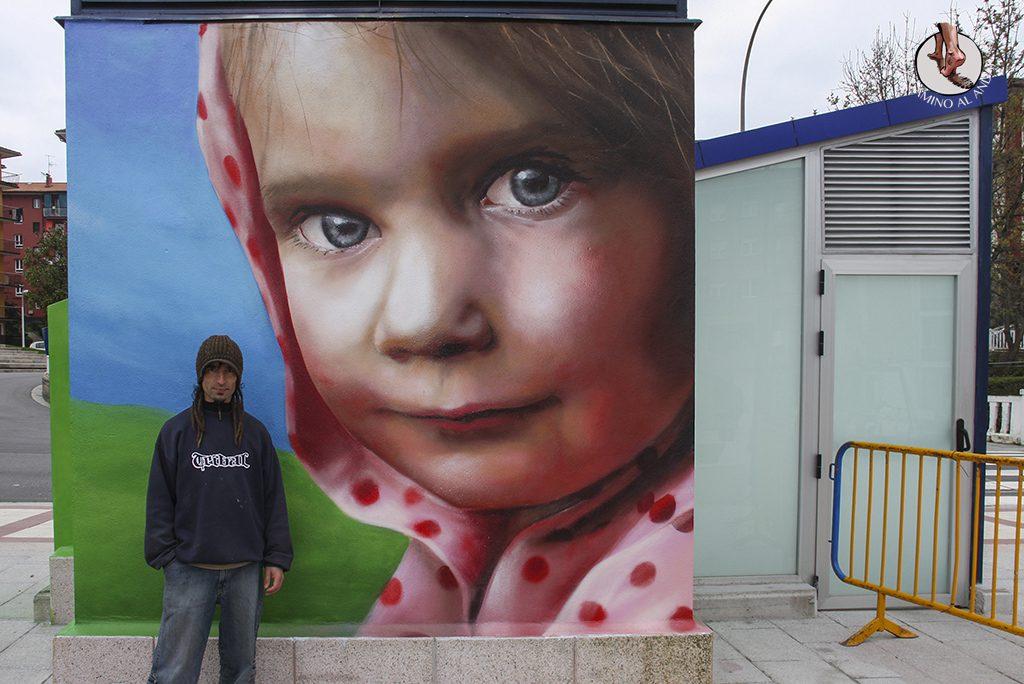 Igor Rezola Dizebi el graffitero del Goierri