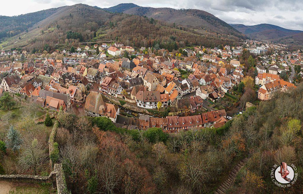 Kaysersberg castillo panoramica