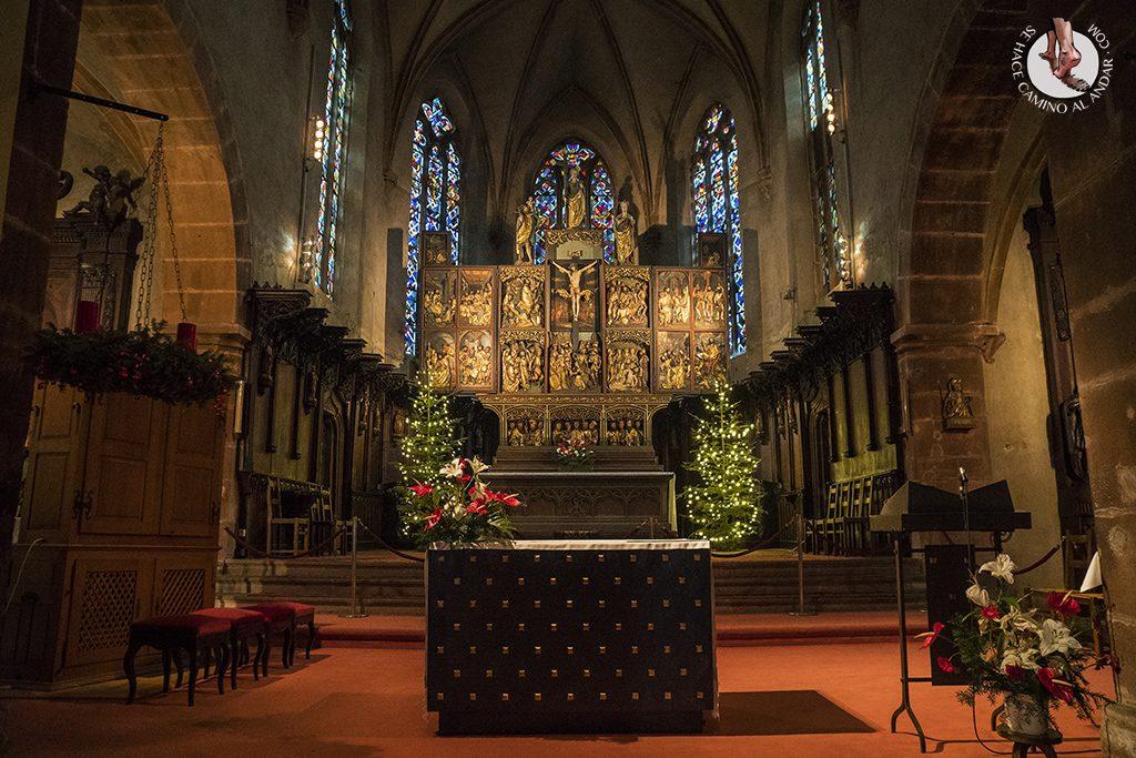 Kaysersberg iglesia de Ste Croix altar