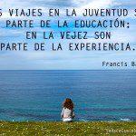 Los viajes son parte de la educación