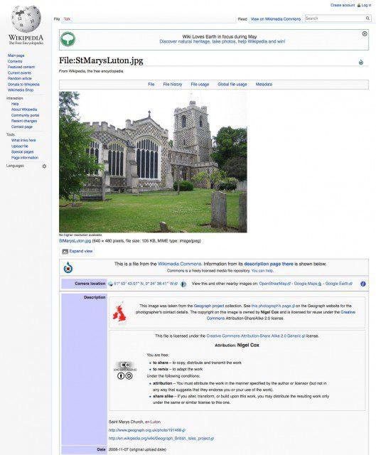 Lugares visitar Wikipedia