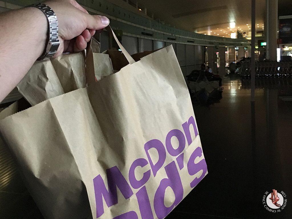 McDonalds aeropuerto Barcelona