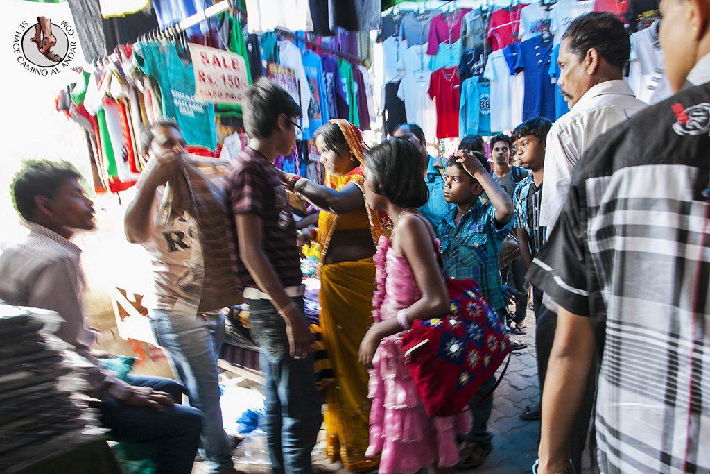 Mercado ropa Calcuta