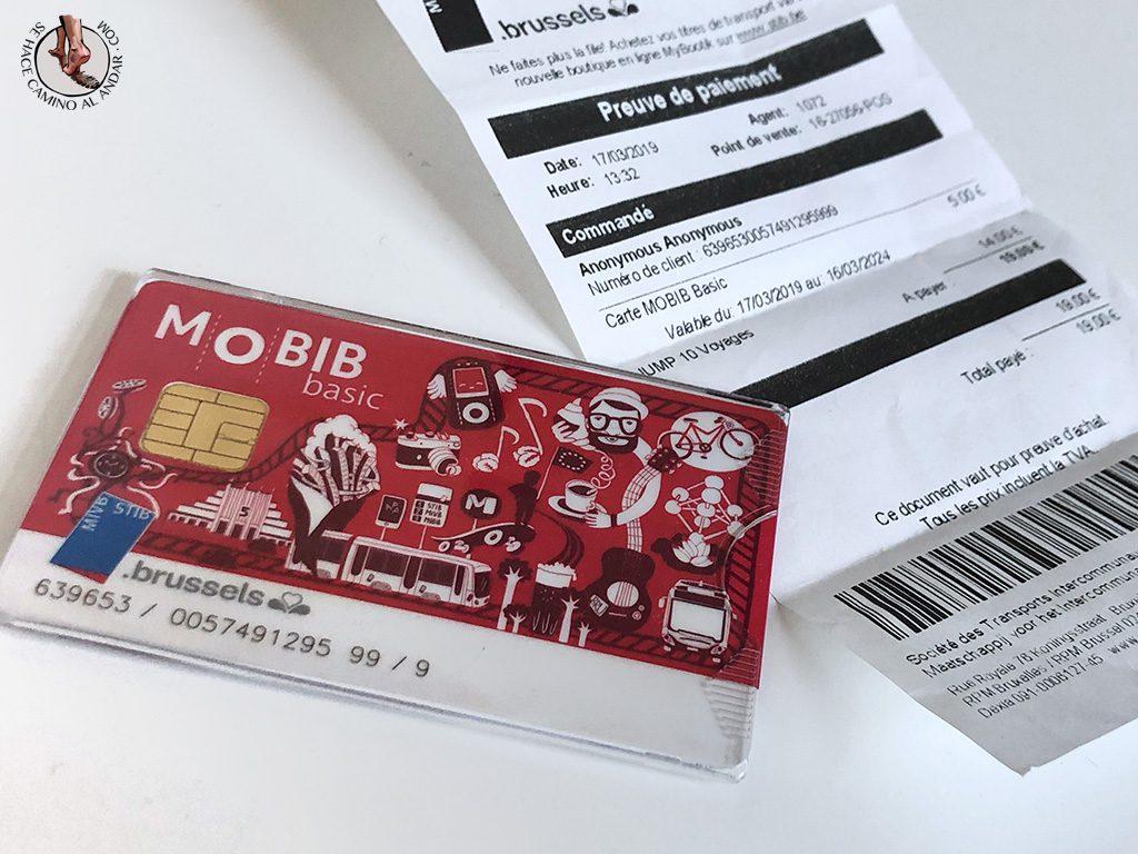 Metro Bruselas tarjeta mobib