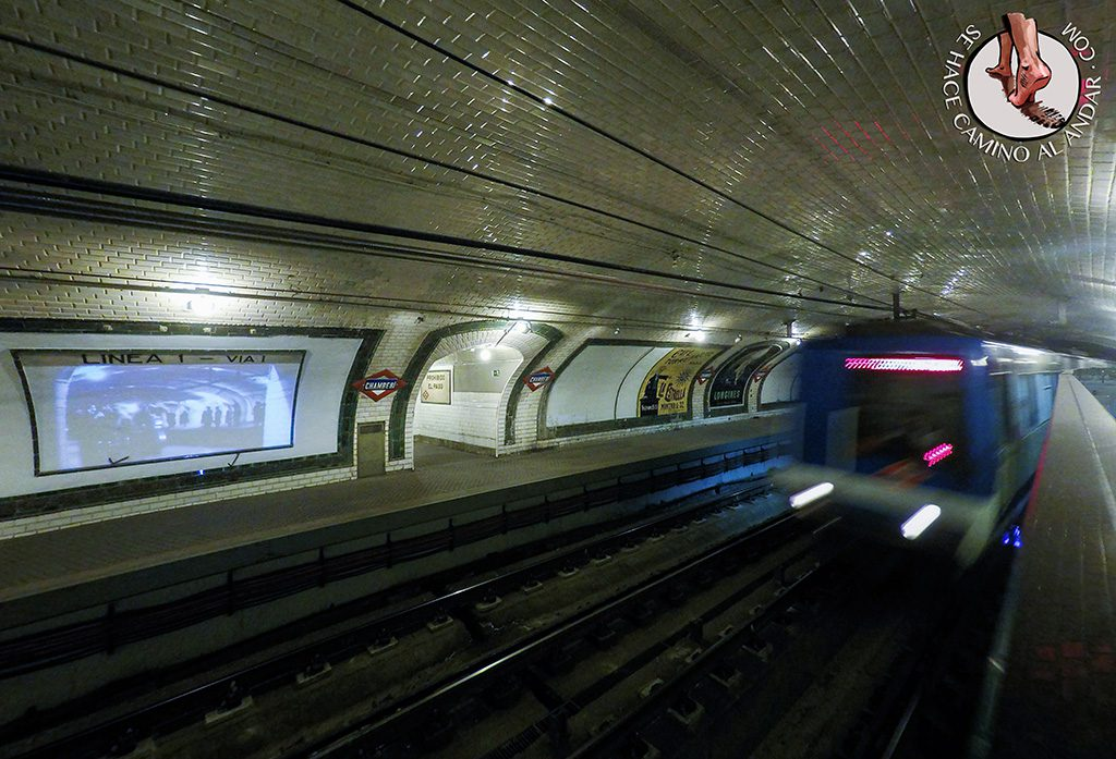 Metro anden Chamberi.