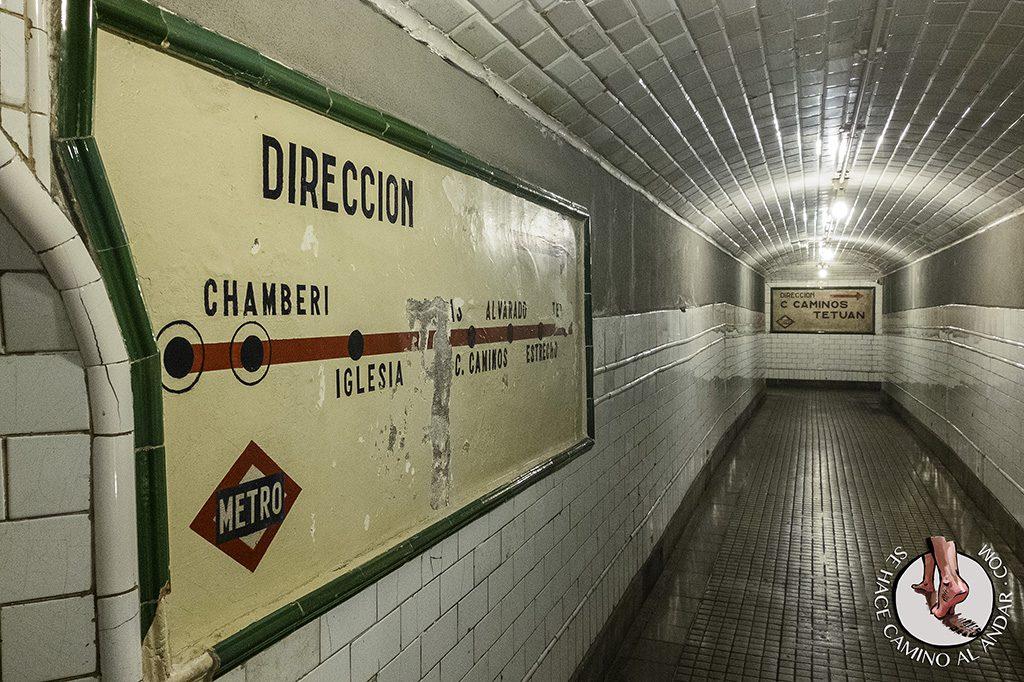 Metro dirección Chamberí