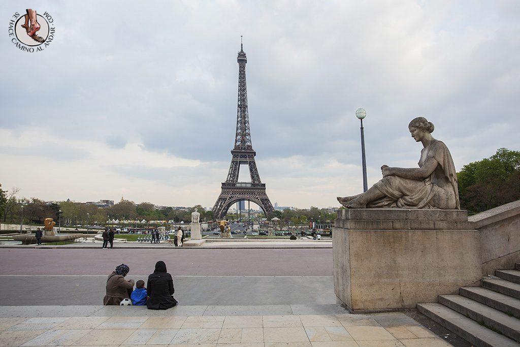Miradores de Paris Jardines Trocadero vistas