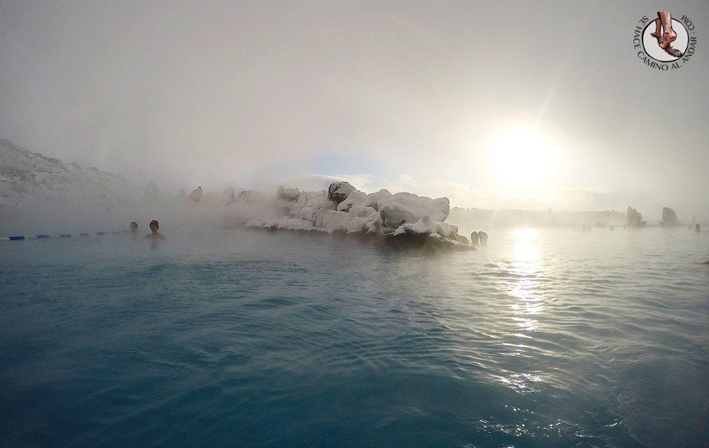Myvatn Nature Baths temporal lago