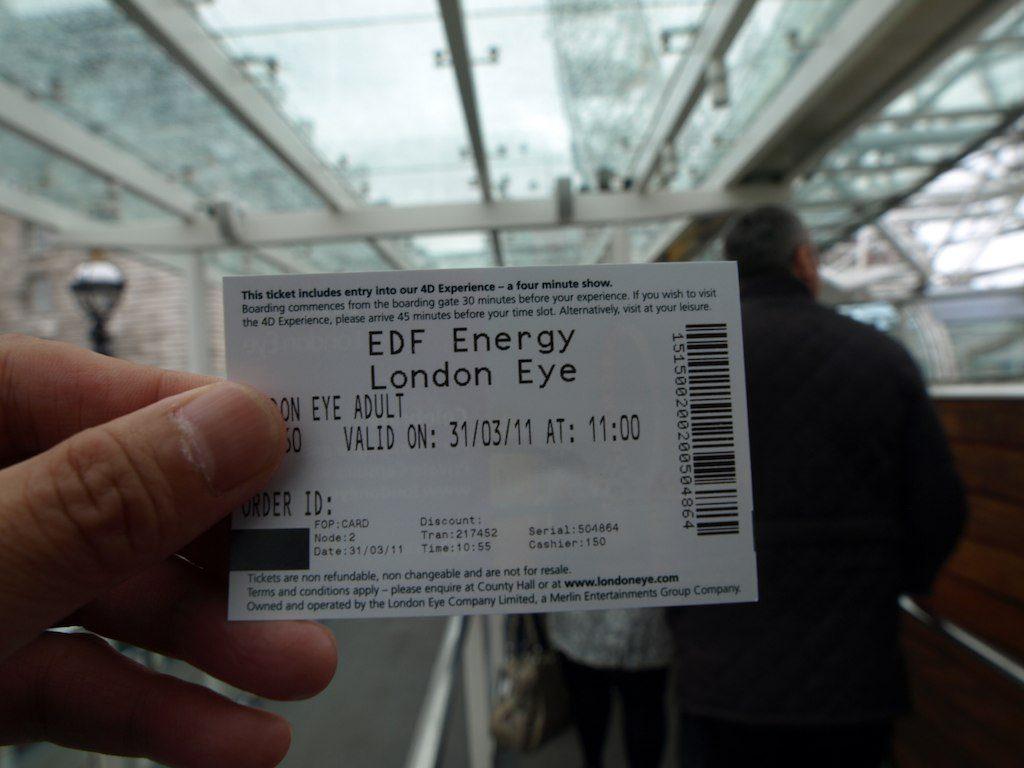 Noria London Eye entrada