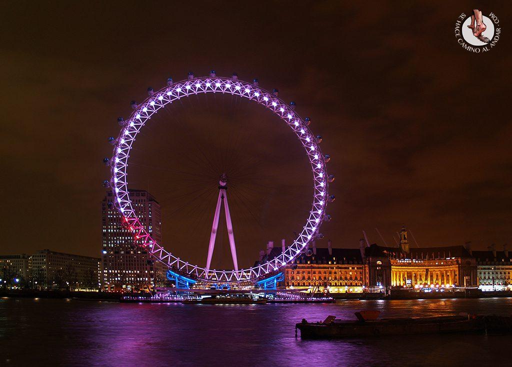 Noria London Eye paseo parte delantera noche