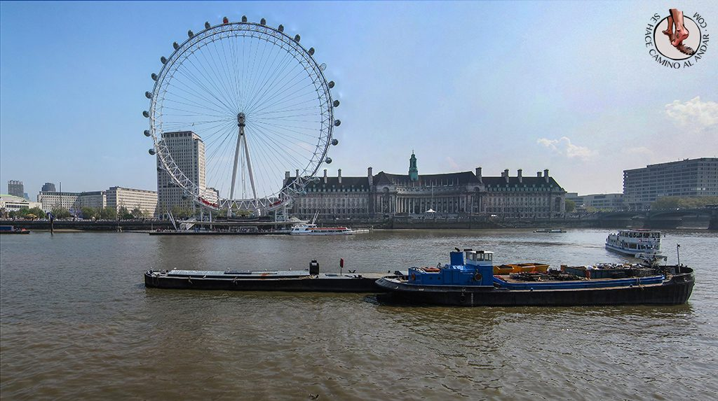Noria London Eye paseo parte delantera