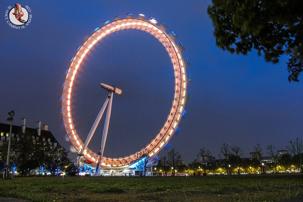 Noria London Eye paseo parte trasera noche