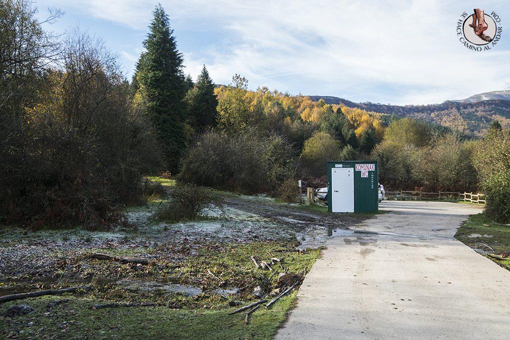 Parking WC hayedo de Otzarreta