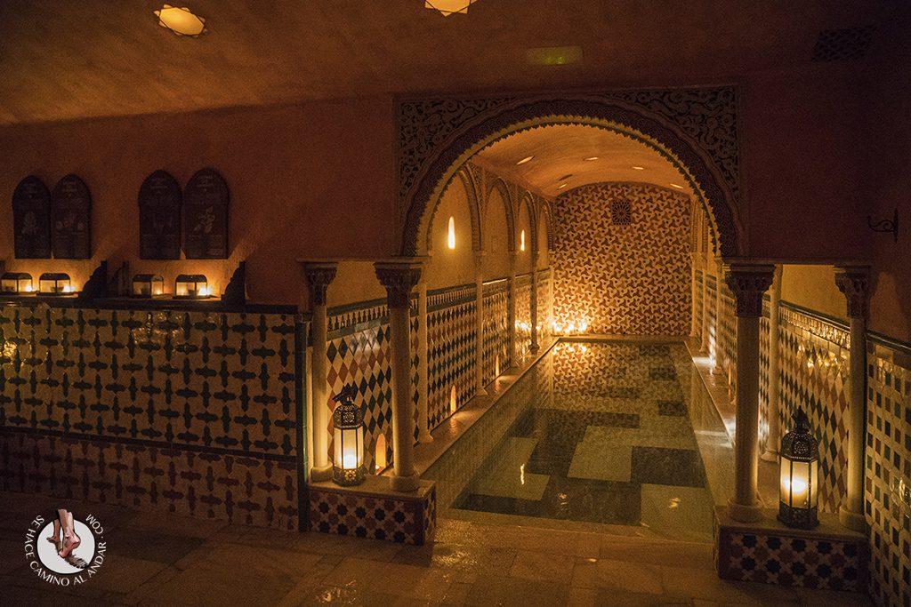 Piscina fría Baños Árabes Hammam Al Ándalus Granada