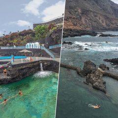 Las piscinas naturales de Charco Azul y La Fajana