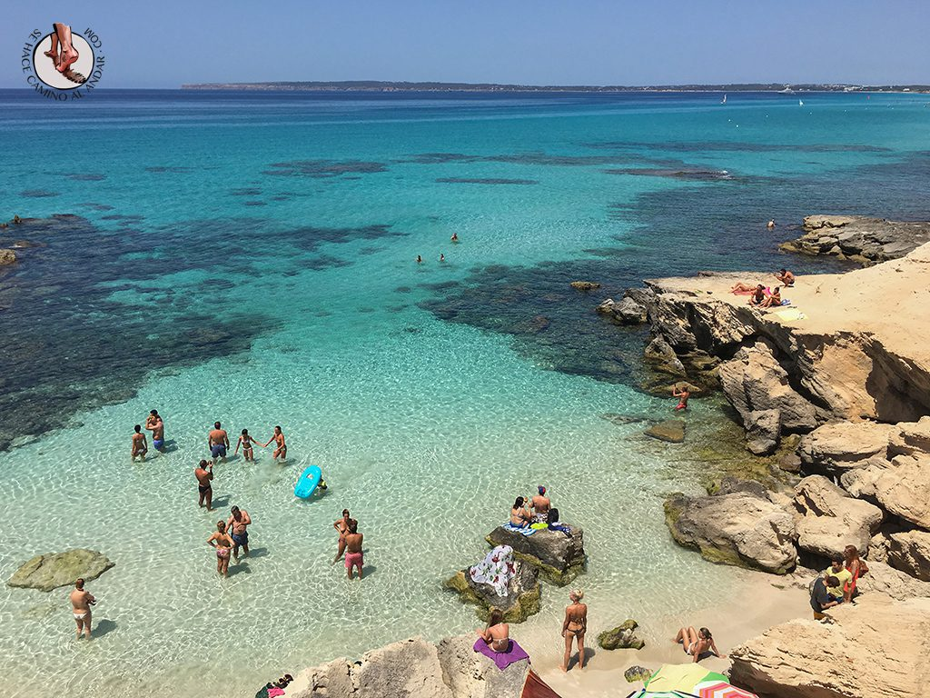 Playa Formentera Calo des Mort vistas